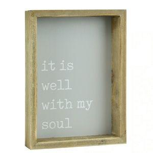 Wood Framed Wall, Shelf, Vanity Art Home Decor